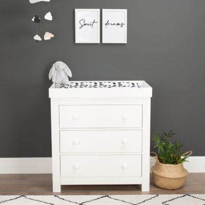 CuddleCo Aylesbury White 3 Drawer Dresser
