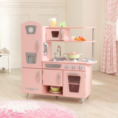 Kidkraft Pink and Silver Vintage Kitchen