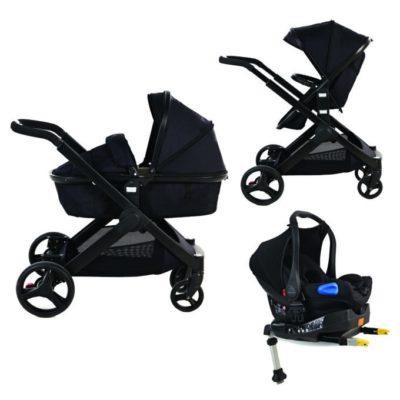 Kids Kargo Glider Isofix Travel System - Black