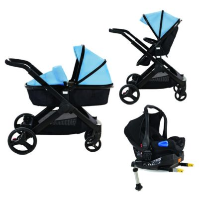 Kids Kargo Glider Isofix Travel System - Blue