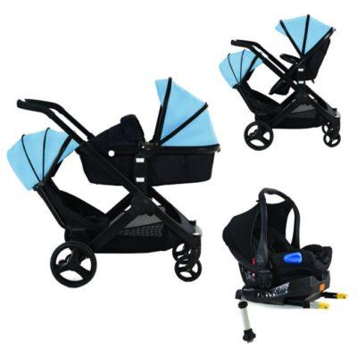 Kids Kargo Glider Tandem Isofix Travel System - Blue