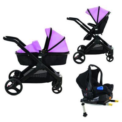 Kids Kargo Glider Isofix Travel System - Pink