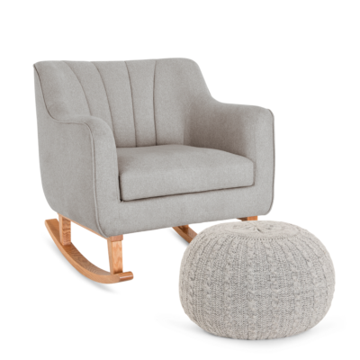 Tutti Bambini Noah Rocking Chair & Pouffe Set - Pebble
