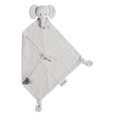 Nattou Tembo Elephant Doudou Swaddle Grey