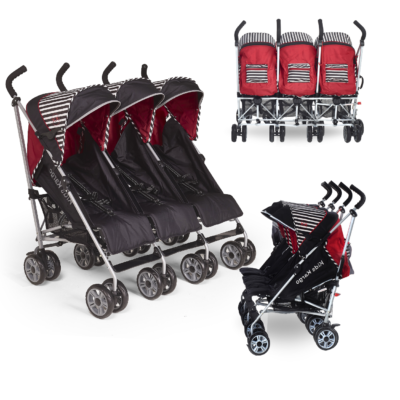 Kids Kargo Citi Elite Oxford Triple Stroller