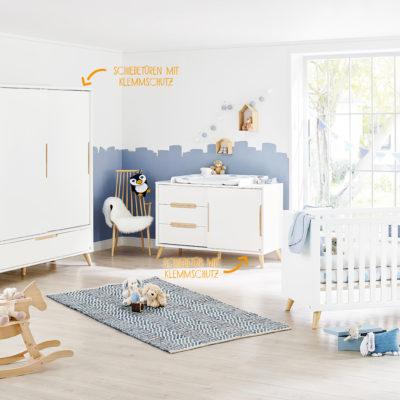 pinolino move extra wide 3 piece nursery room set