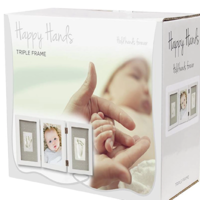 Happy Hands Baby Print Triple Frame Kit