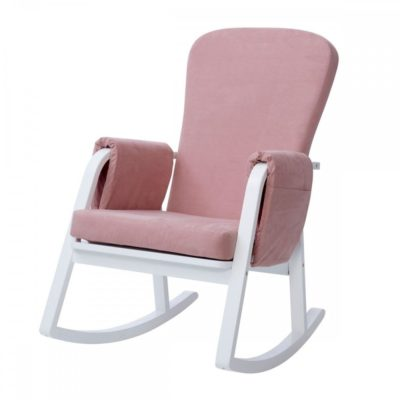 ickle bubba dursley rocking chair blush pink 2
