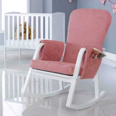 ickle bubba dursley rocking chair blush pink