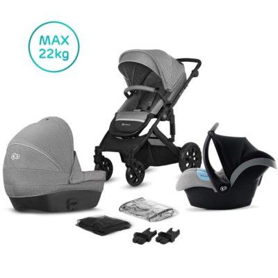 Kinderkraft Grey Prime Lite Travel System