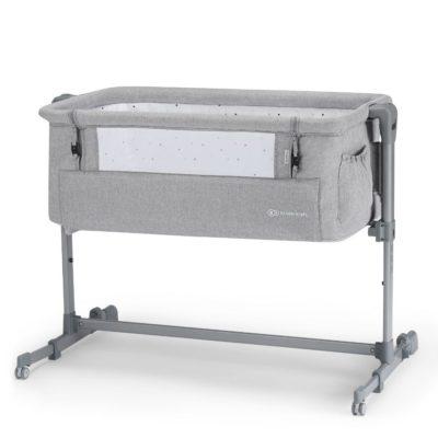 Kinderkraft Light Grey Neste Up Bedside Crib