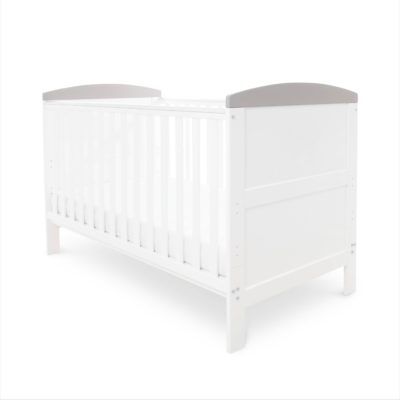 Coleby White with Grey Trim Classic Cot Bed