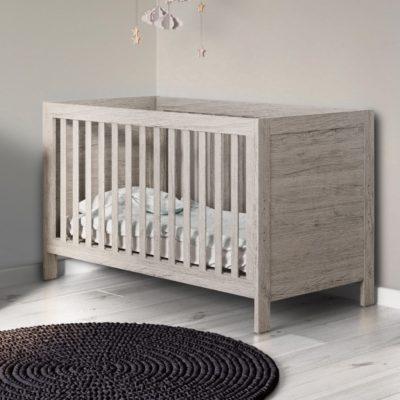 Grantham Grey Oak Cot Bed