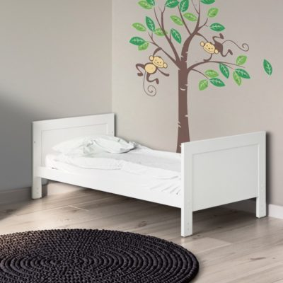 Grantham Brushed White Cot Bed