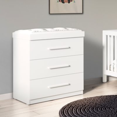 Ickle Bubba Brushed White Grantham Chest of Drawers and Changer