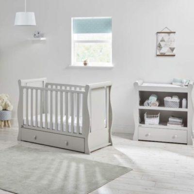 east coast nebraska 2 piece nursery room set grey