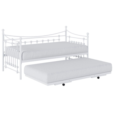 Kidsaw White Leaf Daybed with Trundle