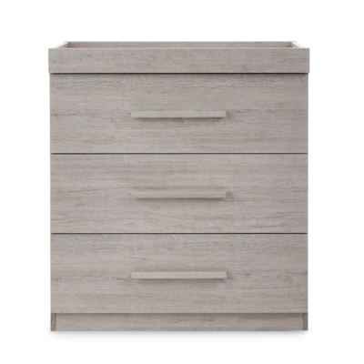 Ickle Bubba Grey Oak Grantham Chest of Drawers and Changer