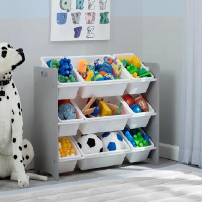 Delta MySize Grey 9 Bin Toy Organiser