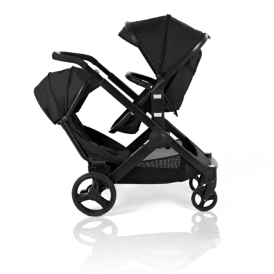 Kids Kargo Black Glider Double Pushchair