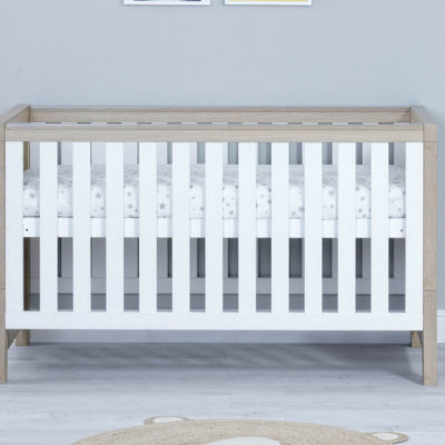 babymore luno 3 piece nursery room set white oak