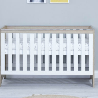 babymore veni cot bed white oak
