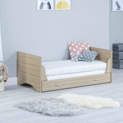 babymore veni junior bed oak