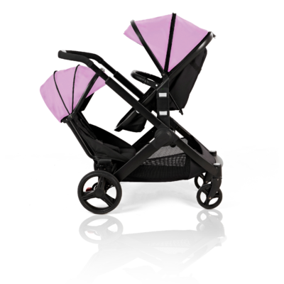 Kids Kargo Pink Glider Double Pushchair