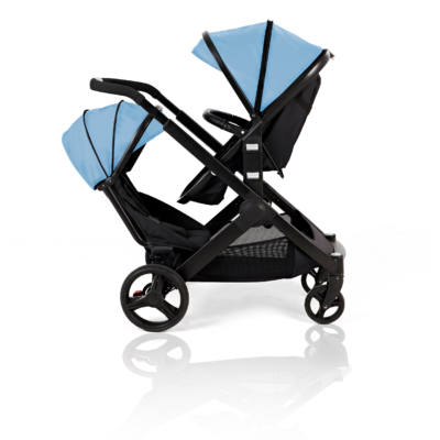 Kids Kargo Blue Glider Double Pushchair