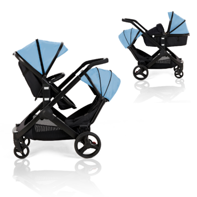 Kids Kargo Blue Glider Double Pushchair