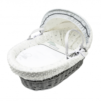 Kindervalley Showered with Love Grey Wicker Basket