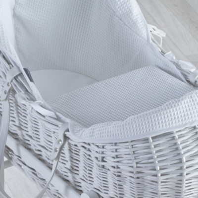Kindervalley White Wicker Pod Waffle White