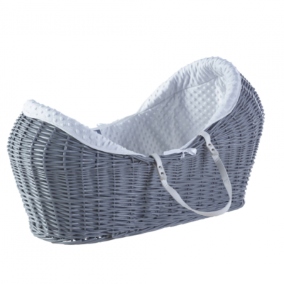 Kindervalley Grey Wicker Pod Dimple White