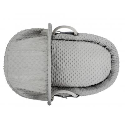 Kindervalley Grey Wicker Basket Dimple Grey