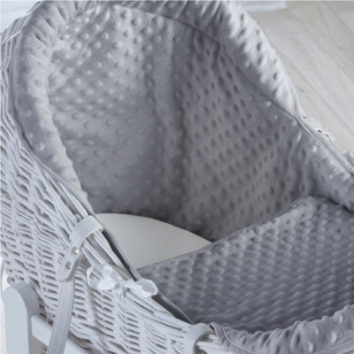 Kindervalley White Wicker Pod Dimple Grey