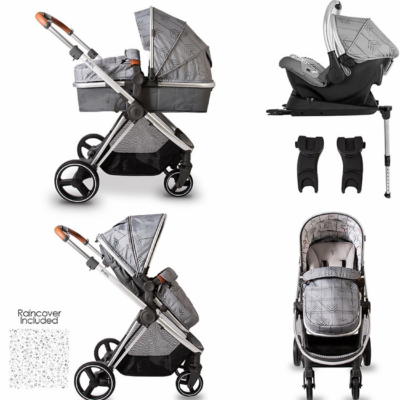 Red Kite Push Me Pace Shadow Travel System With Isofix Base