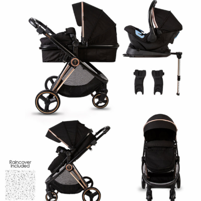 Red Kite Push Me Pace Amber Travel System With Isofix Base