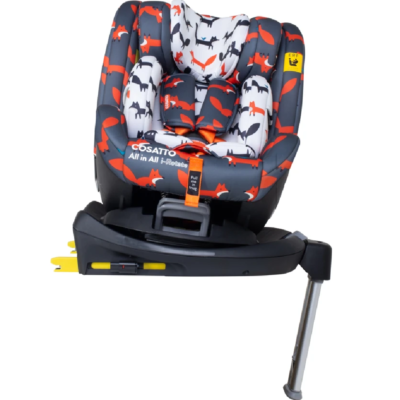 Cosatto Charcoal Mister Fox All in All I-Rotate Car Seat