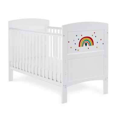 Obaby Multicolour Rainbow Grace Inspire Cot Bed