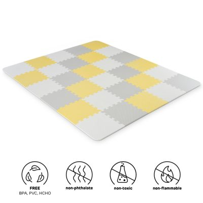Kinderkraft Puzzles LUNO Yellow Foam Mat