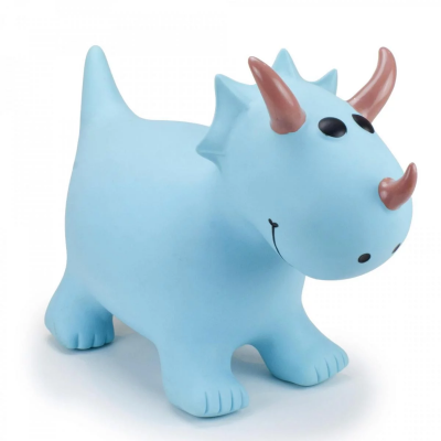 Happy Hopper Turquoise Triceratops