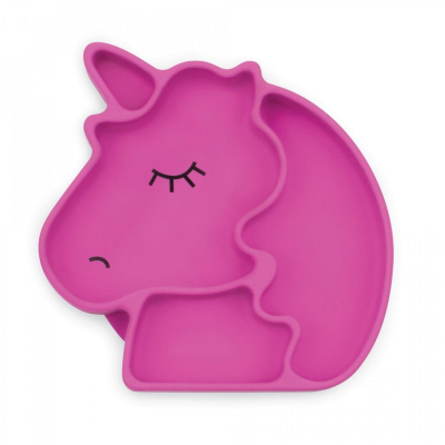 Bumkins Purple Unicorn Silicone Grip Dish