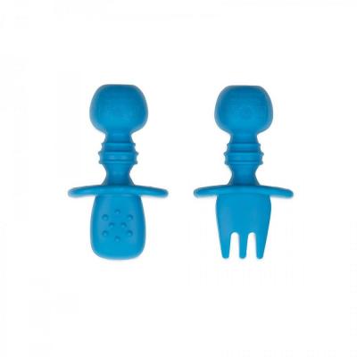Bumkins Dark Blue Silicone Chewtensils