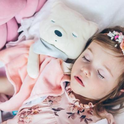 myCuddly Pink Sleep Aid with Sleep Sensor