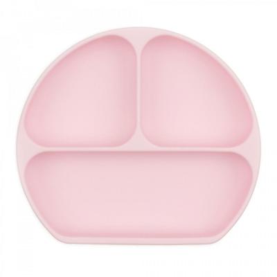Bumkins Pink Silicone Grip Dish