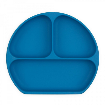 Bumkins Blue Silicone Grip Dish