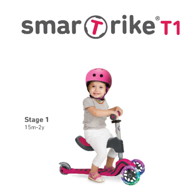 SmarTrike Pink T1 Toddler Scooter