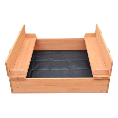 Liberty House Toys Kids Sand Pit With Seating and Cover