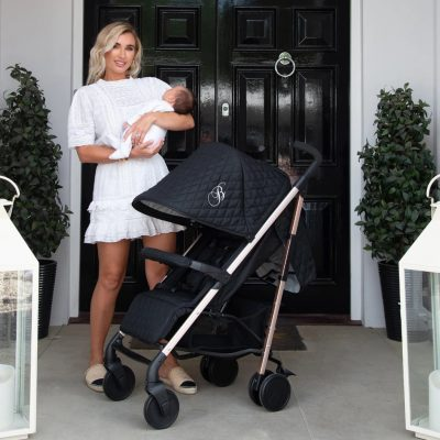 My Babiie Billie Faiers MB51 Stroller - Rose Gold Black Quilted