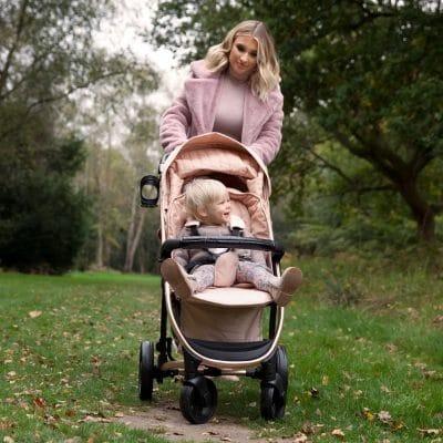 My Babiie Billie Faiers pushchair - Rose Gold & Blush